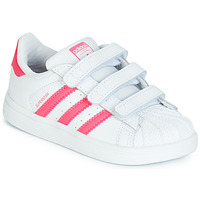 kengät Tytöt Matalavartiset tennarit adidas Originals SUPERSTAR CF I Pink