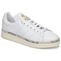 kengät Naiset Matalavartiset tennarit adidas Originals STAN SMITH NEW BOLD White