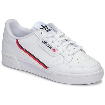 kengät Lapset Matalavartiset tennarit adidas Originals CONTINENTAL 80 J Valkoinen