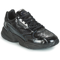 kengät Naiset Matalavartiset tennarit adidas Originals FALCON W Black / Glitter