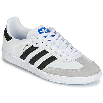 super popular 0ee8f 634d8 kengät Lapset Matalavartiset tennarit adidas Originals SAMBA OG J White    Black