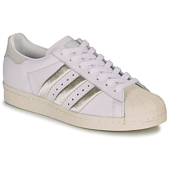 kengät Naiset Matalavartiset tennarit adidas Originals SUPERSTAR 80s W White / Beige