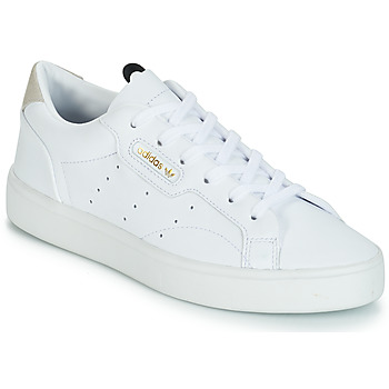 kengät Naiset Matalavartiset tennarit adidas Originals adidas SLEEK W White