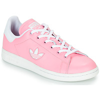 kengät Tytöt Matalavartiset tennarit adidas Originals STAN SMITH J Pink