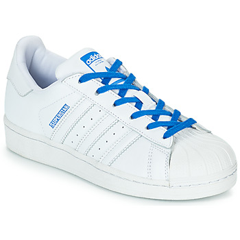 kengät Tytöt Matalavartiset tennarit adidas Originals SUPERSTAR J White / Blue