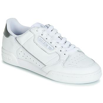 kengät Naiset Matalavartiset tennarit adidas Originals CONTINENTAL 80s White / Hopea
