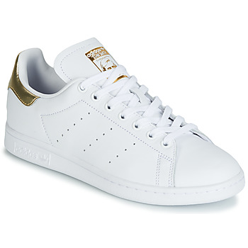 kengät Naiset Matalavartiset tennarit adidas Originals STAN SMITH W White / Kulta