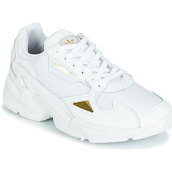 new product ce186 1c02c kengät Naiset Matalavartiset tennarit adidas Originals FALCON W White    Kulta