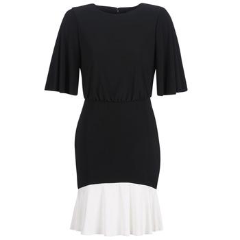 vaatteet Naiset Lyhyt mekko Lauren Ralph Lauren ELBOW SLEEVE DAY DRESS Black / White