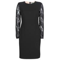 vaatteet Naiset Lyhyt mekko Lauren Ralph Lauren LACE PANEL JERSEY DRESS Black