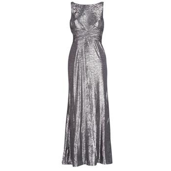 vaatteet Naiset Pitkä mekko Lauren Ralph Lauren SLEEVELESS EVENING DRESS GUNMETAL Grey / Hopea