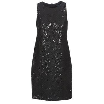 vaatteet Naiset Lyhyt mekko Lauren Ralph Lauren SEQUINED SLEEVELESS DRESS Black