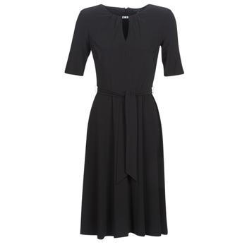 vaatteet Naiset Lyhyt mekko Lauren Ralph Lauren 3/4 SLEEVE  JERSEY DAY DRESS Black