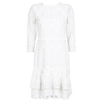 vaatteet Naiset Lyhyt mekko Lauren Ralph Lauren LONG SLEEVE-LACE DAY DRESS White / Black