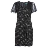 vaatteet Naiset Lyhyt mekko Lauren Ralph Lauren POLKA DOT-SHORT SLEEVE-DAY DRESS Black