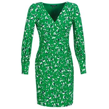 vaatteet Naiset Lyhyt mekko Lauren Ralph Lauren FLORAL PRINT-LONG SLEEVE-JERSEY DAY DRESS Green