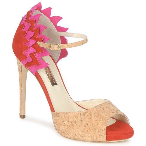 kengät Naiset Sandaalit ja avokkaat Rupert Sanderson FLAMANTE Red / Black