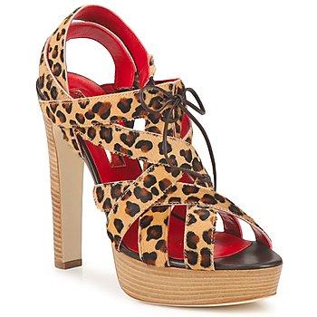 kengät Naiset Sandaalit ja avokkaat Rupert Sanderson BRISE Leopardi