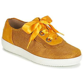 kengät Naiset Matalavartiset tennarit Casta HUMANA Yellow / Kulta