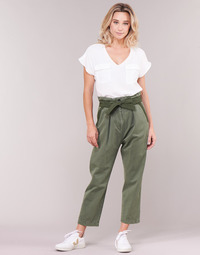 vaatteet Naiset Chino-housut / Porkkanahousut G-Star Raw BRONSON ARMY PAPERBAG Kaki