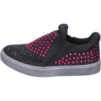 kengät Tytöt Tennarit Lulu slip on nero tessuto strass BT332 Nero