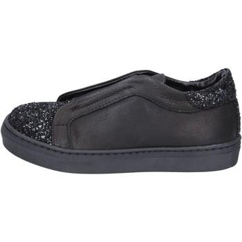 kengät Tytöt Tennarit Holalà sneakers nero pelle glitter BT357 Nero