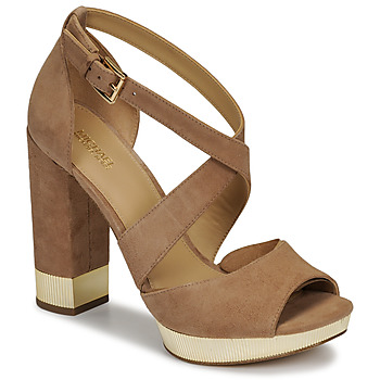 kengät Naiset Sandaalit ja avokkaat MICHAEL Michael Kors VALERIE PLATFORM Camel