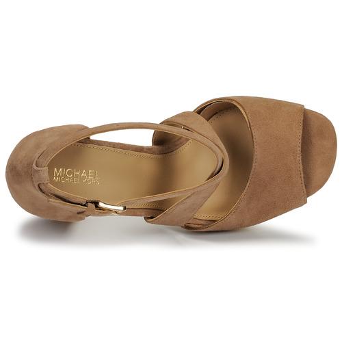 Michael Kors Valerie Platform Camel - Ilmainen Toimitus- Kengät Sandaalit Naiset 125