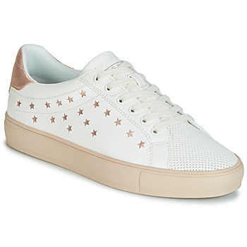 kengät Naiset Matalavartiset tennarit Esprit Colette Star LU White / Pink / Kulta
