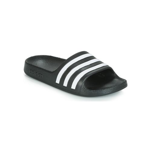 kengät Lapset Rantasandaalit adidas Performance ADILETTE AQUA K Black / White