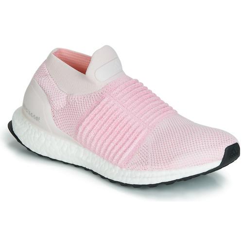 kengät Naiset Juoksukengät / Trail-kengät adidas Performance ULTRABOOST LACELESS Pink
