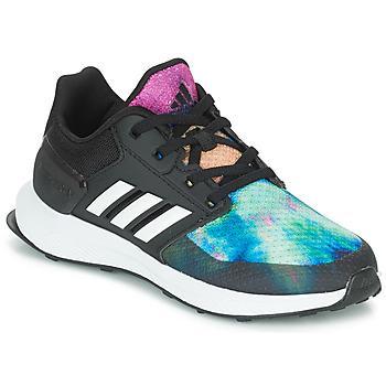 kengät Tytöt Juoksukengät / Trail-kengät adidas Originals RAPIDARUN X K Black