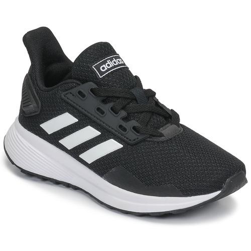 kengät Lapset Juoksukengät / Trail-kengät adidas Performance DURAMO 9 K Black / White