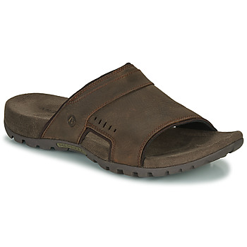 kengät Miehet Sandaalit Merrell SANDSPUR LEE SLIDE Brown