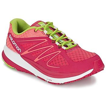 kengät Naiset Juoksukengät / Trail-kengät Salomon SENSE PULSE WOMAN Pink / Orange / Green