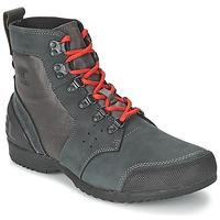 kengät Miehet Bootsit Sorel ANKENY MID HIKER RIPSTOP Black / Grey