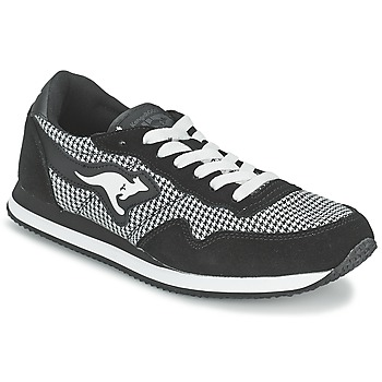 kengät Naiset Matalavartiset tennarit Kangaroos INVADER TWEED Grey / Black