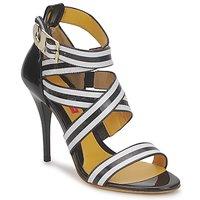 kengät Naiset Sandaalit ja avokkaat Charles Jourdan BARBARA Black / White