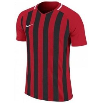 vaatteet Miehet Lyhythihainen t-paita Nike Striped Division Iii Mustat, Punainen