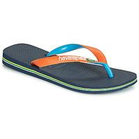 kengät Varvassandaalit Havaianas BRASIL MIX Laivastonsininen / Orange