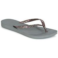kengät Naiset Varvassandaalit Havaianas SLIM LOGO METALLIC Harmaa