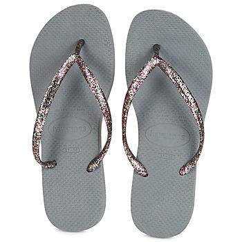 kengät Naiset Varvassandaalit Havaianas SLIM LOGO METALLIC Grey