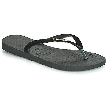 kengät Naiset Varvassandaalit Havaianas SLIM VELVET Black