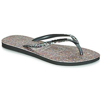 kengät Naiset Varvassandaalit Havaianas SLIM CARNAVAL Black