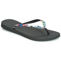 kengät Naiset Varvassandaalit Havaianas SLIM STRAPPED Musta