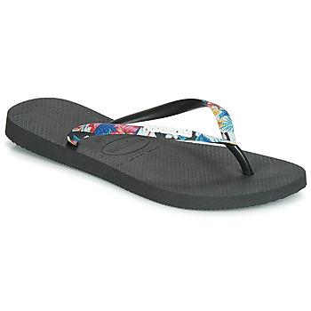 kengät Naiset Varvassandaalit Havaianas SLIM STRAPPED Black