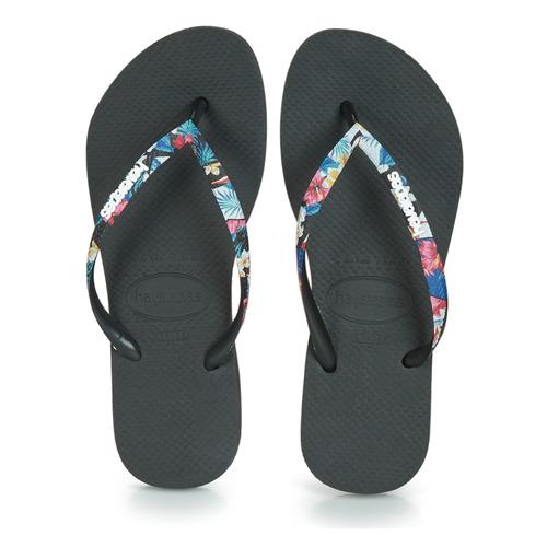 Havaianas Slim Strapped Black - Ilmainen Toimitus- Kengät Varvassandaalit Naiset 21