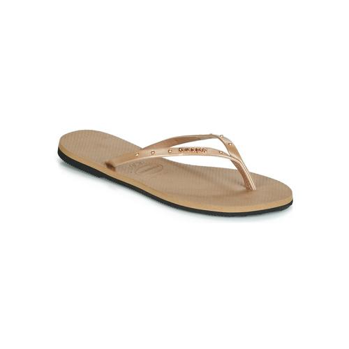 kengät Naiset Varvassandaalit Havaianas YOU MAXI Pink / Kulta
