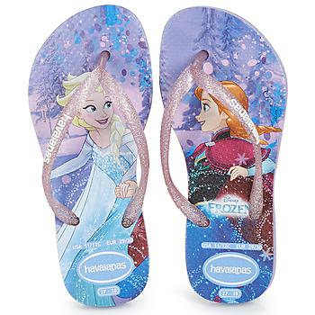 kengät Tytöt Varvassandaalit Havaianas KIDS SLIM FROZEN Violet