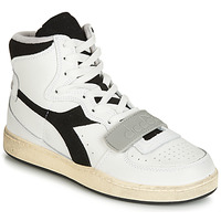 kengät Korkeavartiset tennarit Diadora MI BASKET USED White / Black
